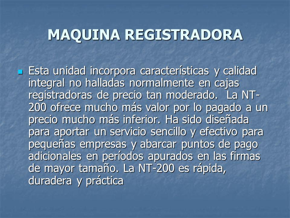 MAQUINA REGISTRADORA