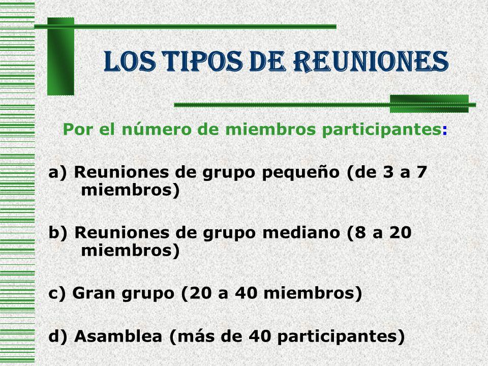 Por el número de miembros participantes: