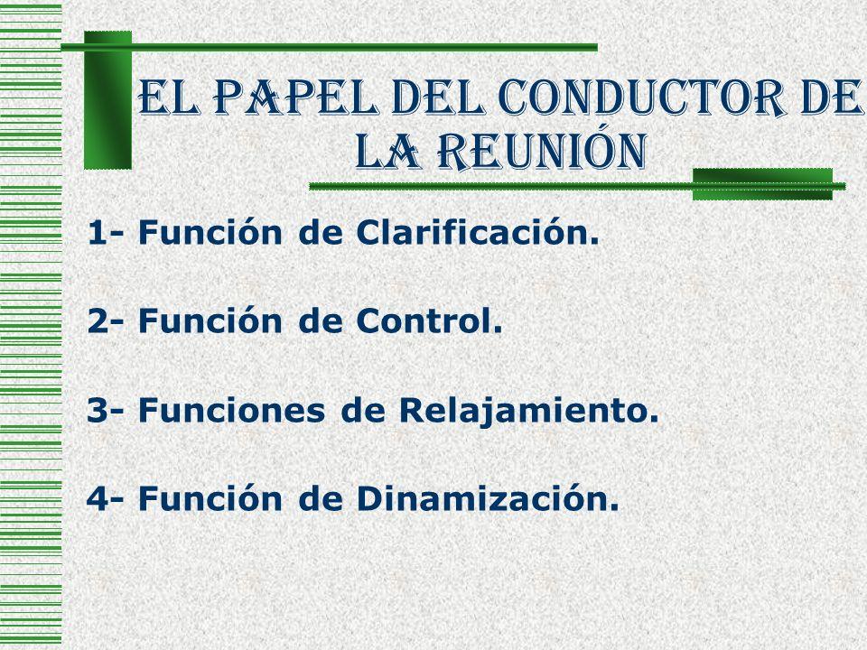 El Papel Del Conductor De La Reunión