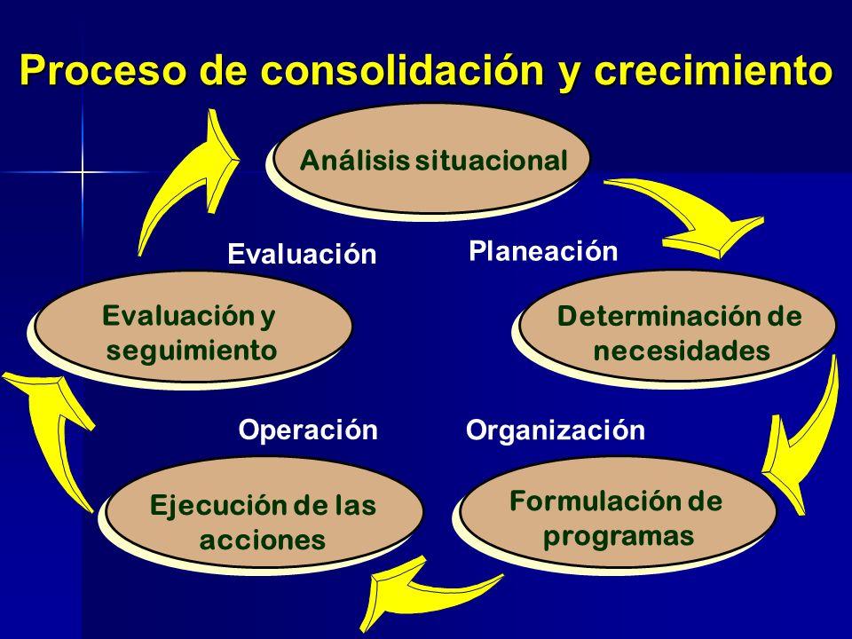 Proceso de consolidación y crecimiento