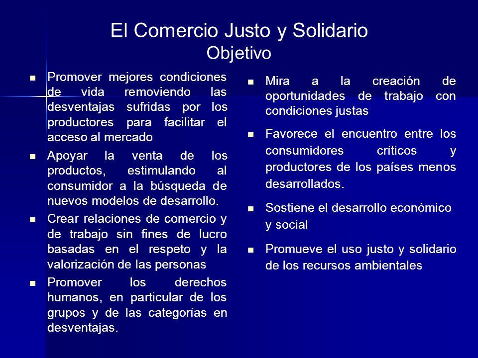 El Comercio Justo y Solidario Objetivo