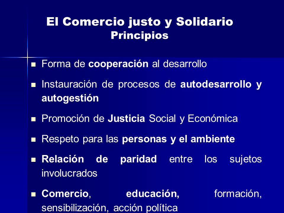 El Comercio justo y Solidario Principios