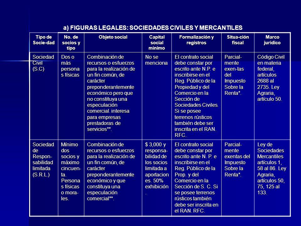 Formalización y registros