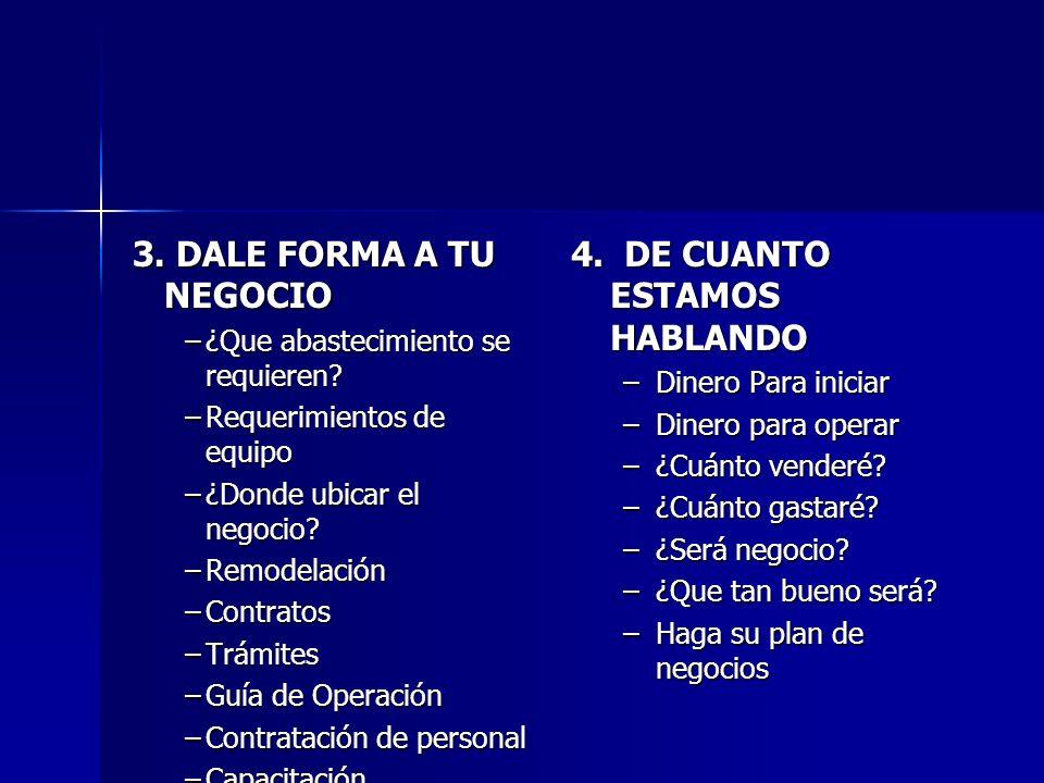4. DE CUANTO ESTAMOS HABLANDO