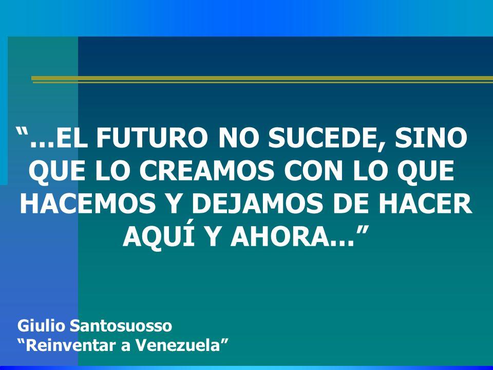 ...EL FUTURO NO SUCEDE, SINO QUE LO CREAMOS CON LO QUE