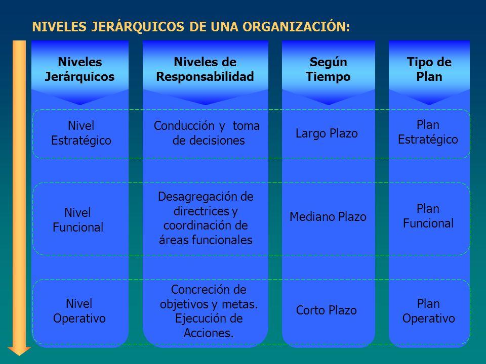 NIVELES JERÁRQUICOS DE UNA ORGANIZACIÓN: