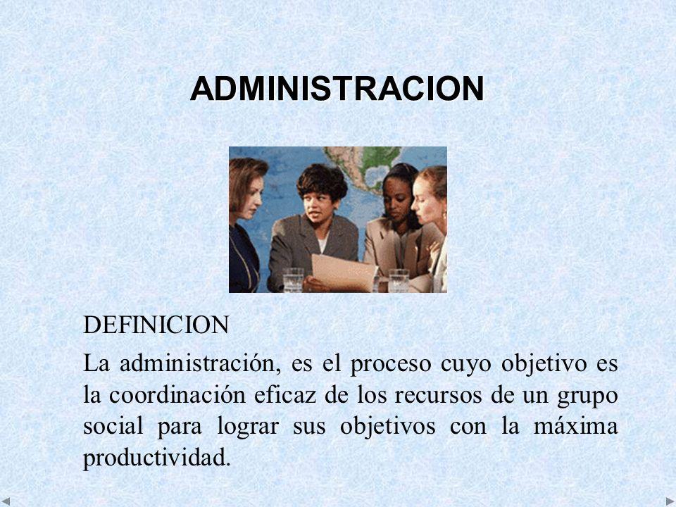 ADMINISTRACION DEFINICION