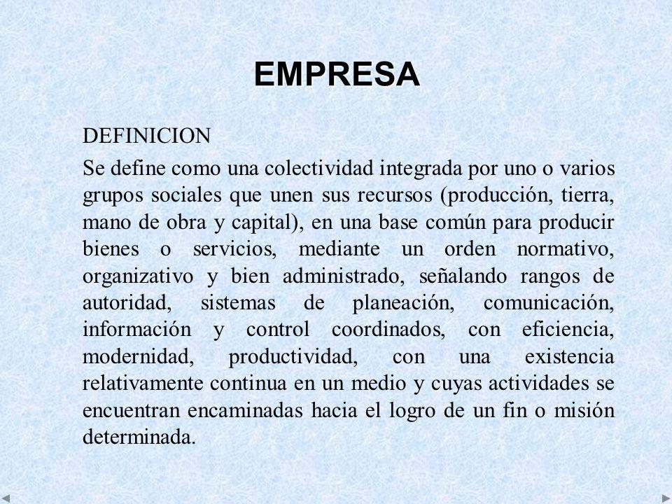 EMPRESA DEFINICION.