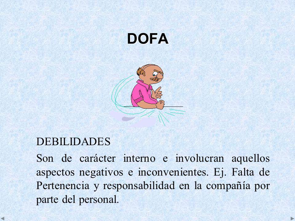 DOFA DEBILIDADES.