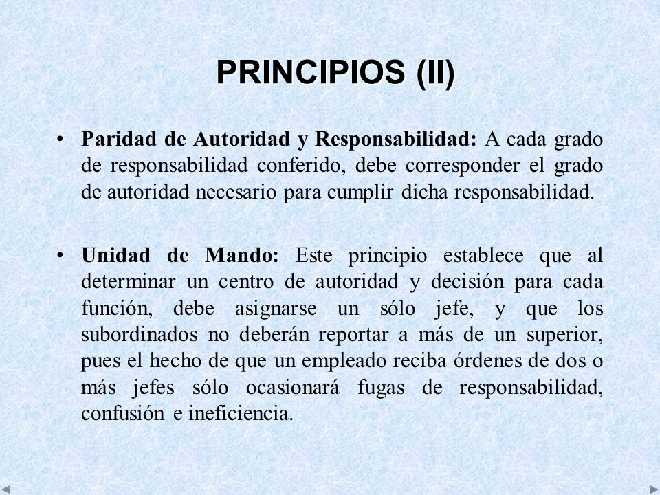 PRINCIPIOS (II)