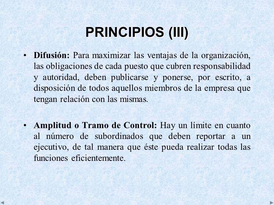 PRINCIPIOS (III)
