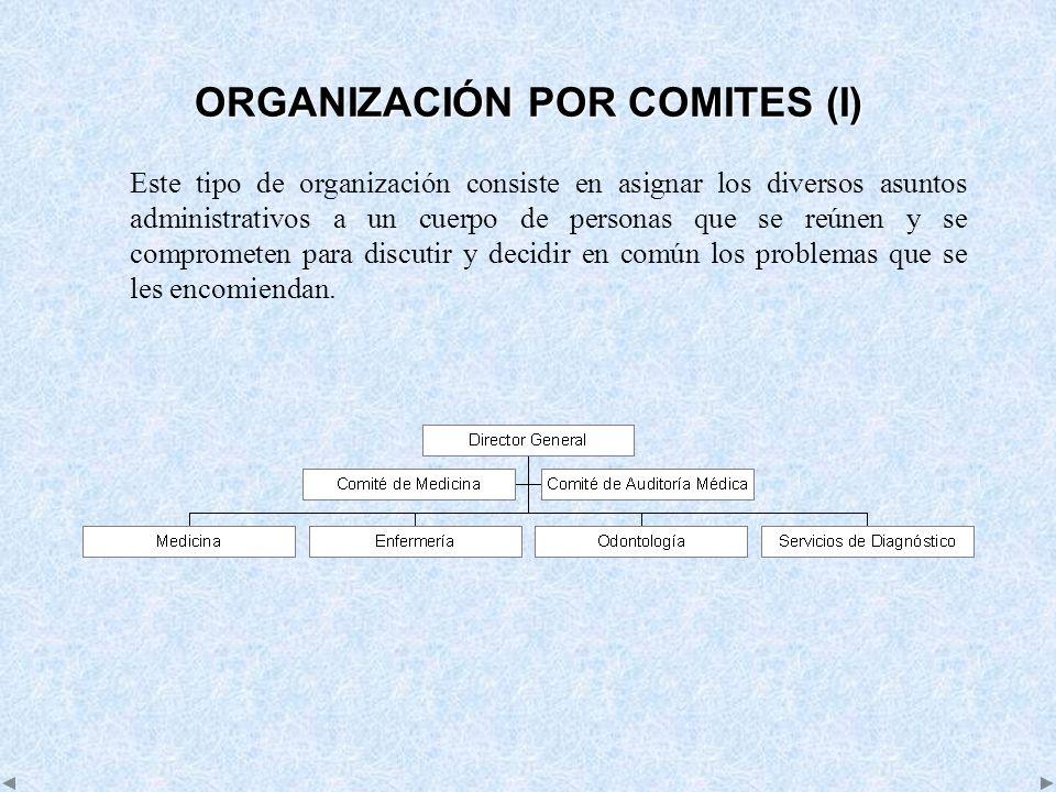 ORGANIZACIÓN POR COMITES (I)