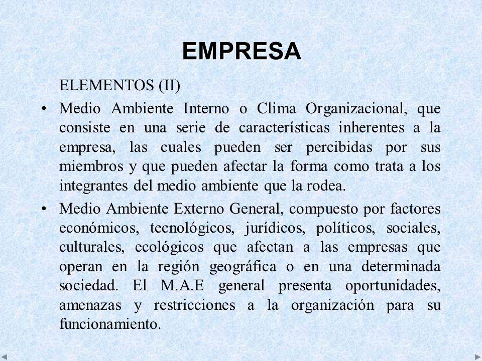EMPRESA ELEMENTOS (II)