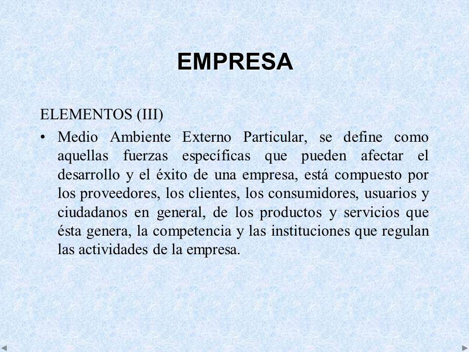 EMPRESA ELEMENTOS (III)