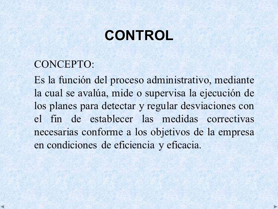 CONTROL CONCEPTO: