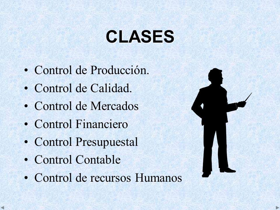 CLASES Control de Producción. Control de Calidad. Control de Mercados