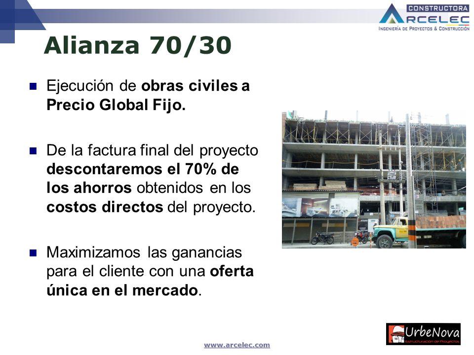Alianza 70/30 Ejecución de obras civiles a Precio Global Fijo.