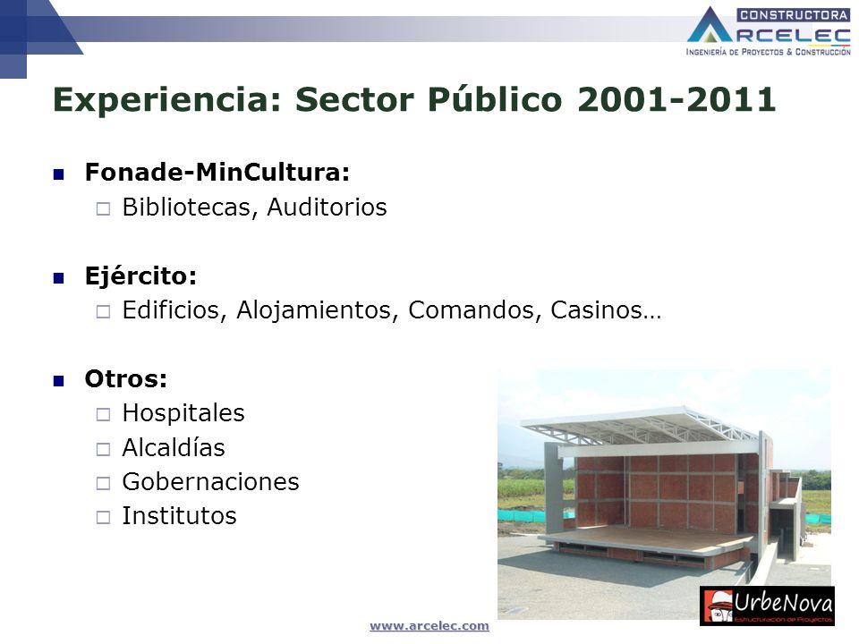 Experiencia: Sector Público 2001-2011