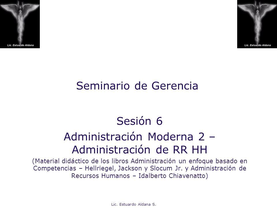 Administración Moderna 2 – Administración de RR HH