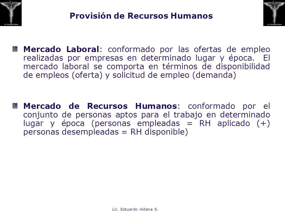 Provisión de Recursos Humanos