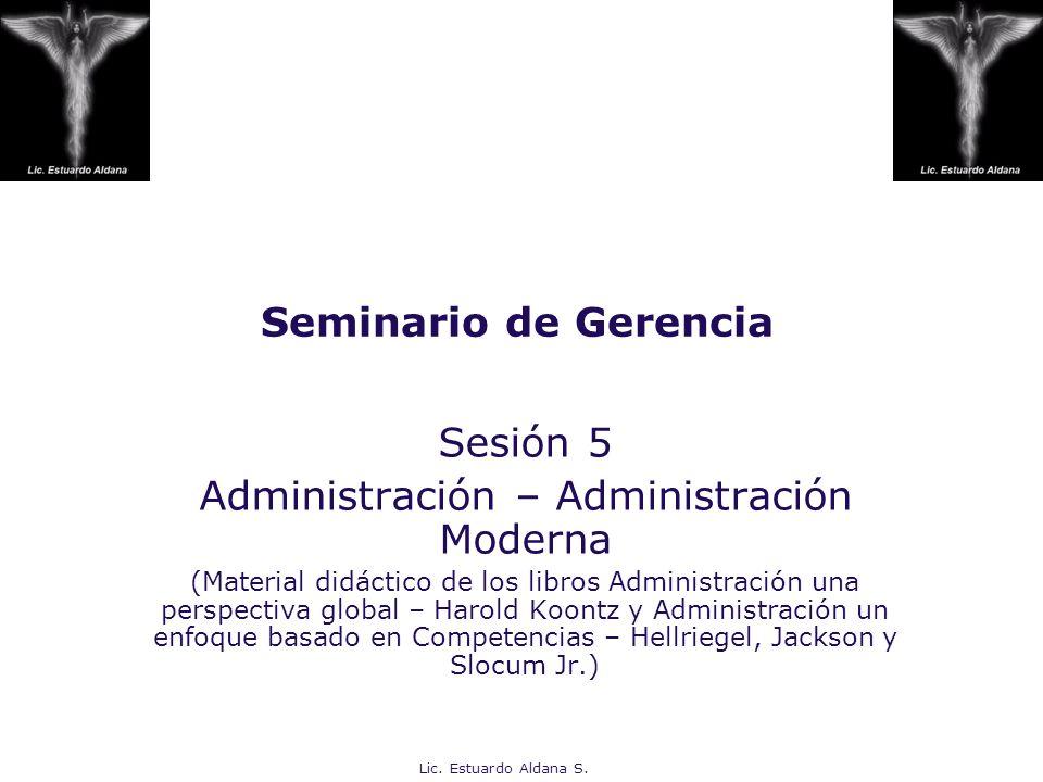 Administración – Administración Moderna