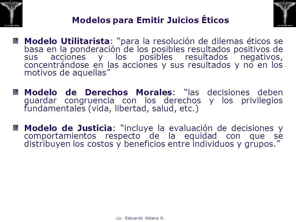 Modelos para Emitir Juicios Éticos