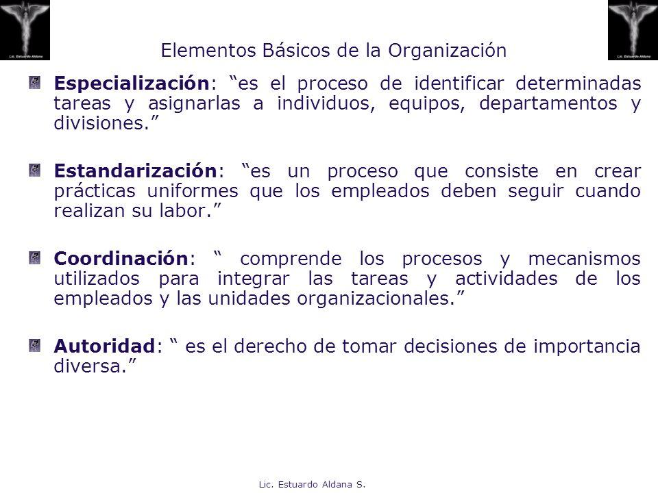 Elementos Básicos de la Organización