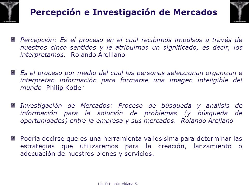 Percepción e Investigación de Mercados
