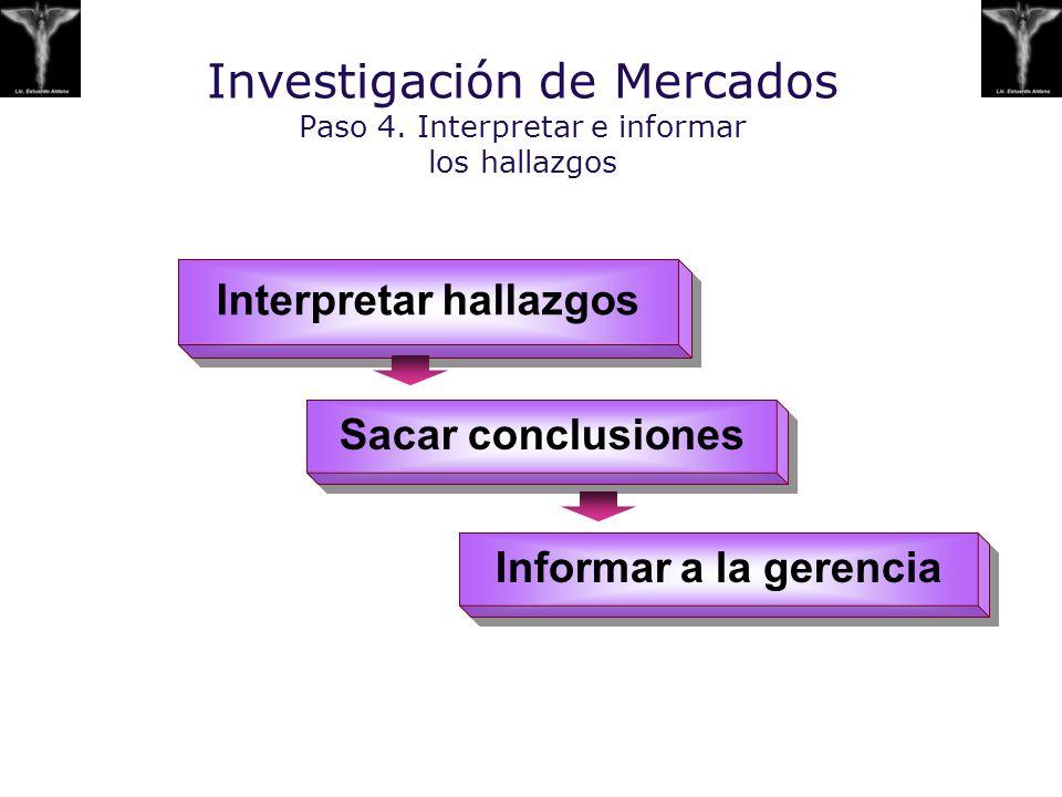 Investigación de Mercados Paso 4. Interpretar e informar los hallazgos
