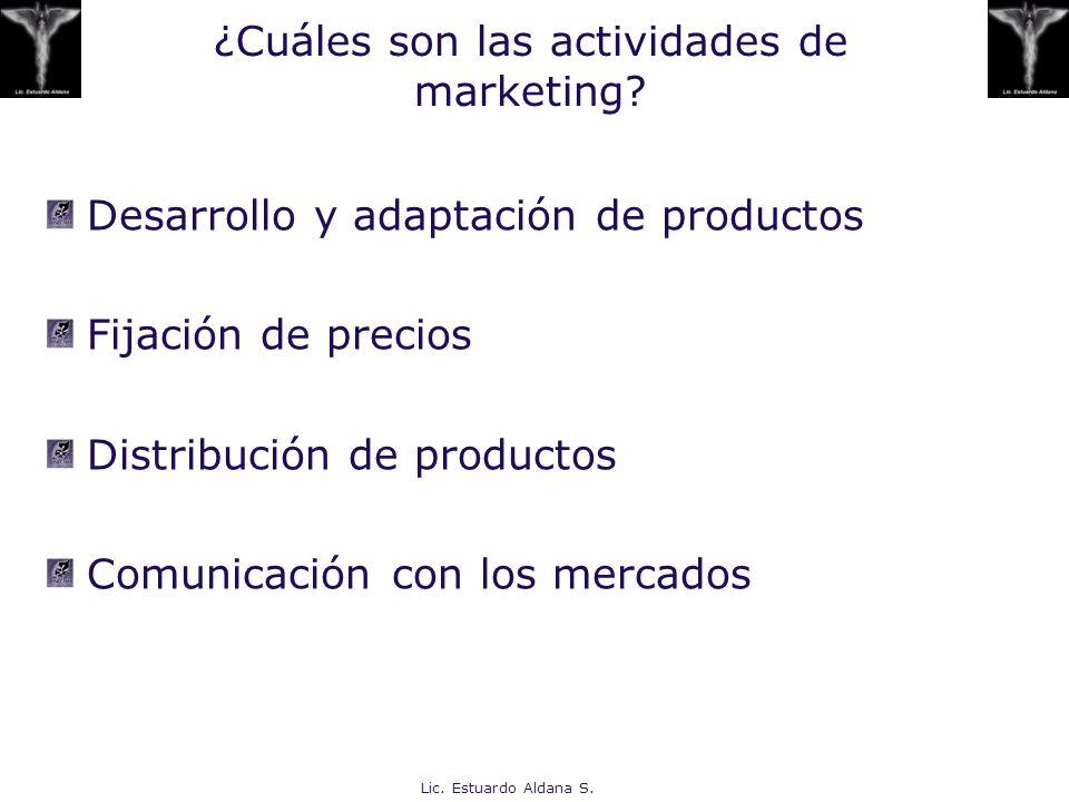 ¿Cuáles son las actividades de marketing