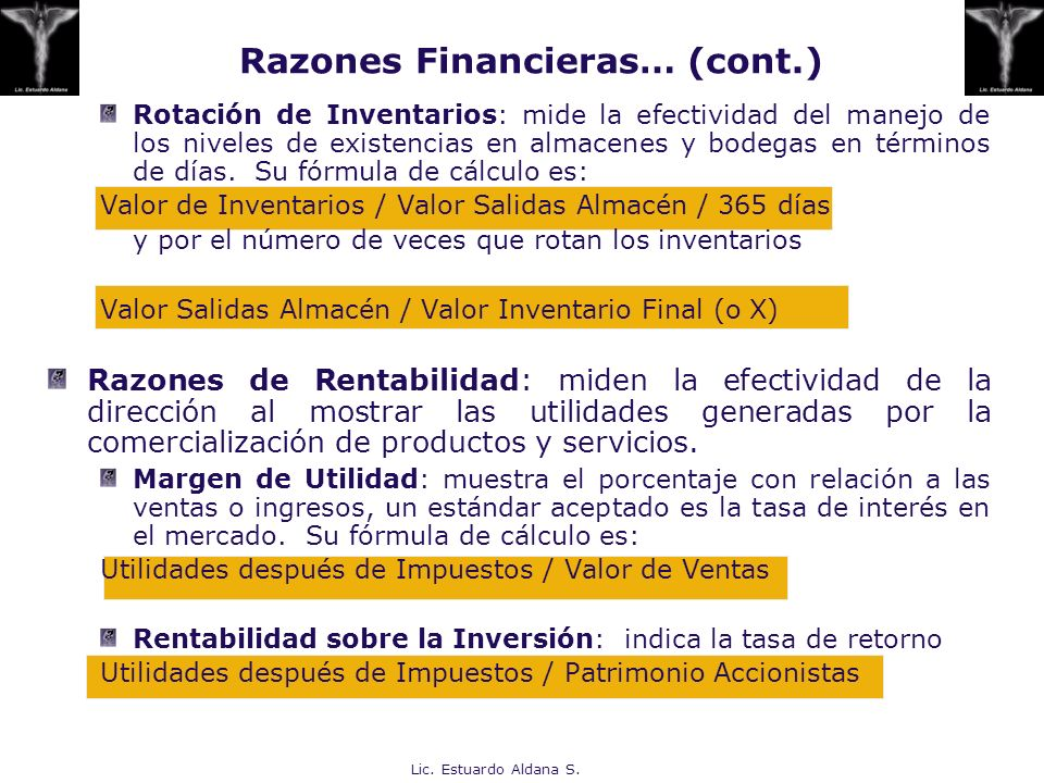 Razones Financieras… (cont.)