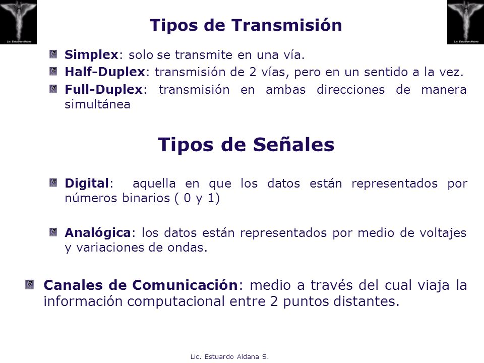 Tipos de Señales Tipos de Transmisión