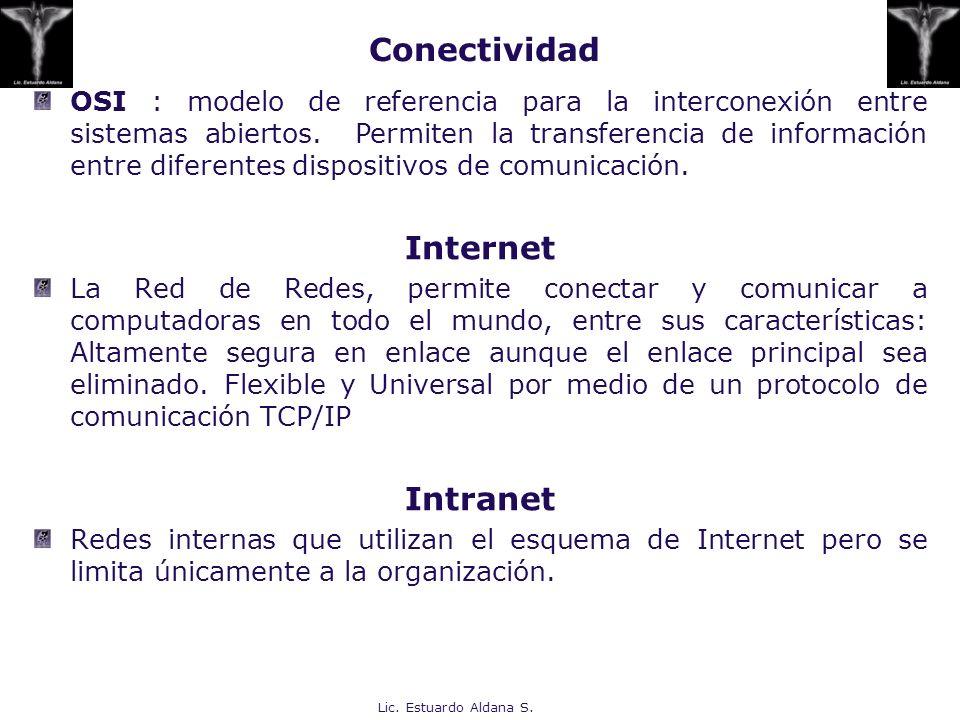 Conectividad Internet Intranet