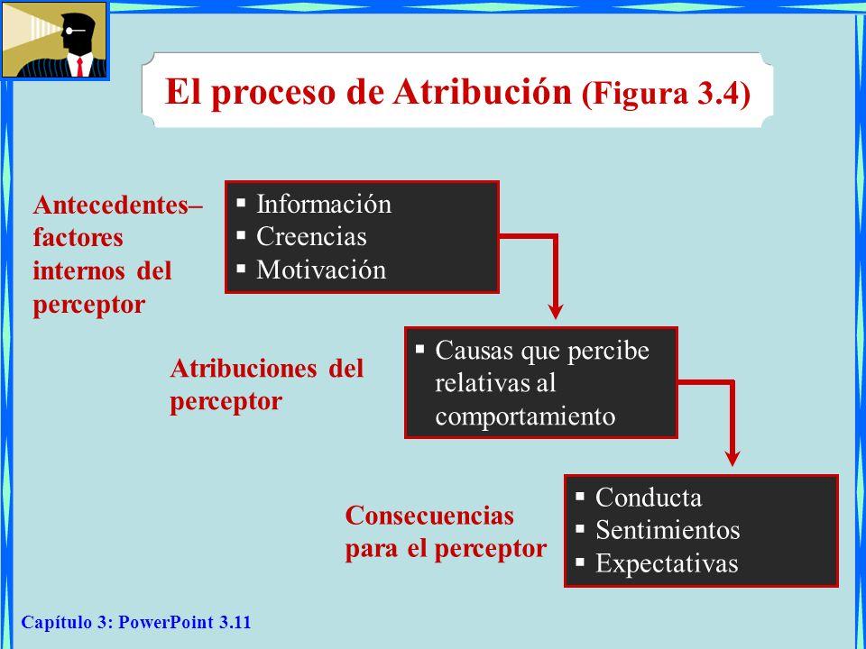 El proceso de Atribución (Figura 3.4)