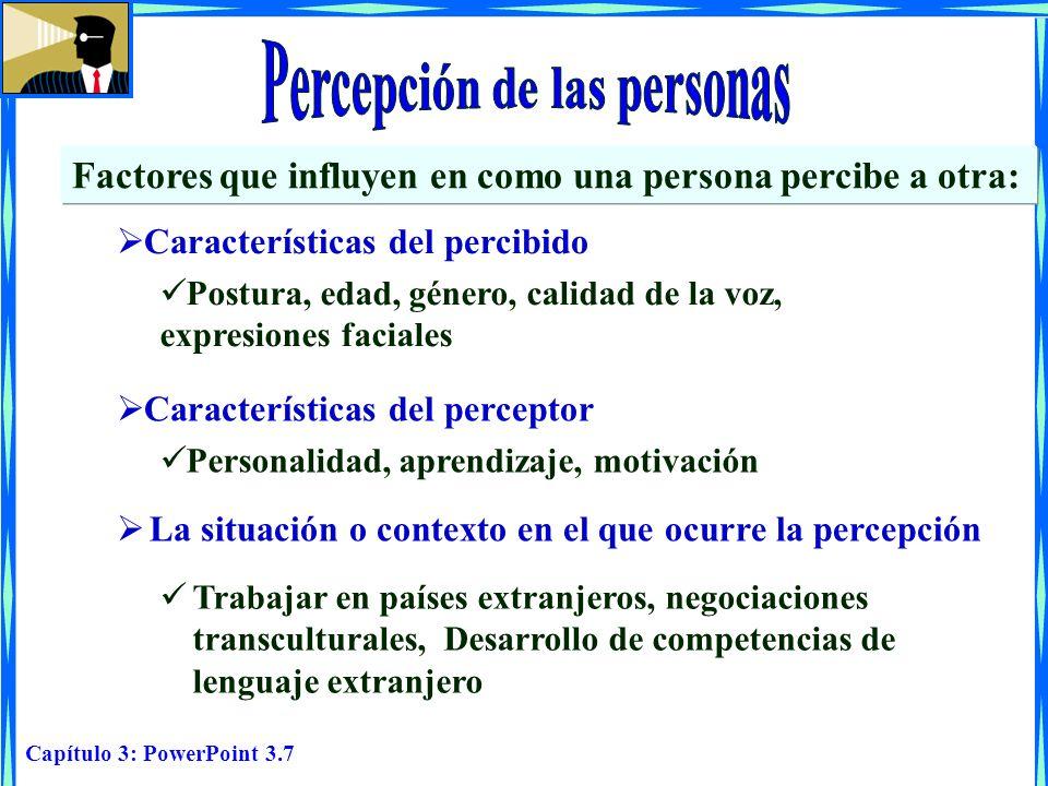 Percepción de las personas