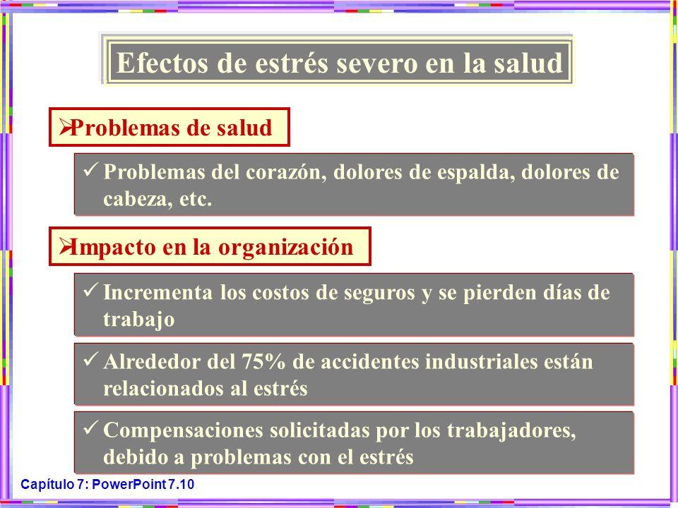 Efectos de estrés severo en la salud