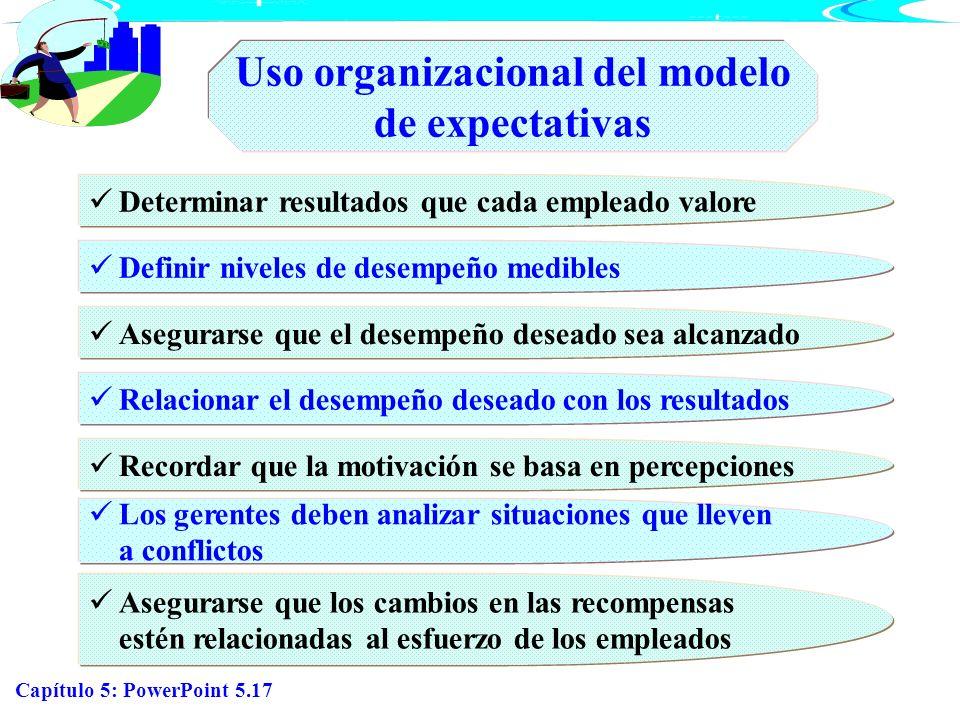 Uso organizacional del modelo de expectativas