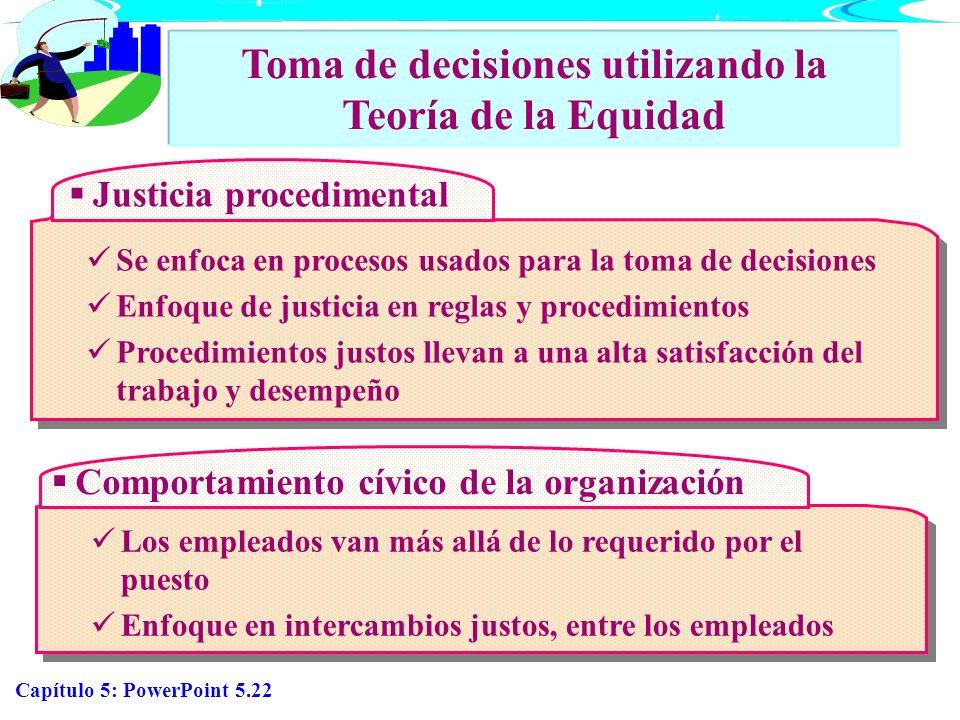 Toma de decisiones utilizando la Teoría de la Equidad