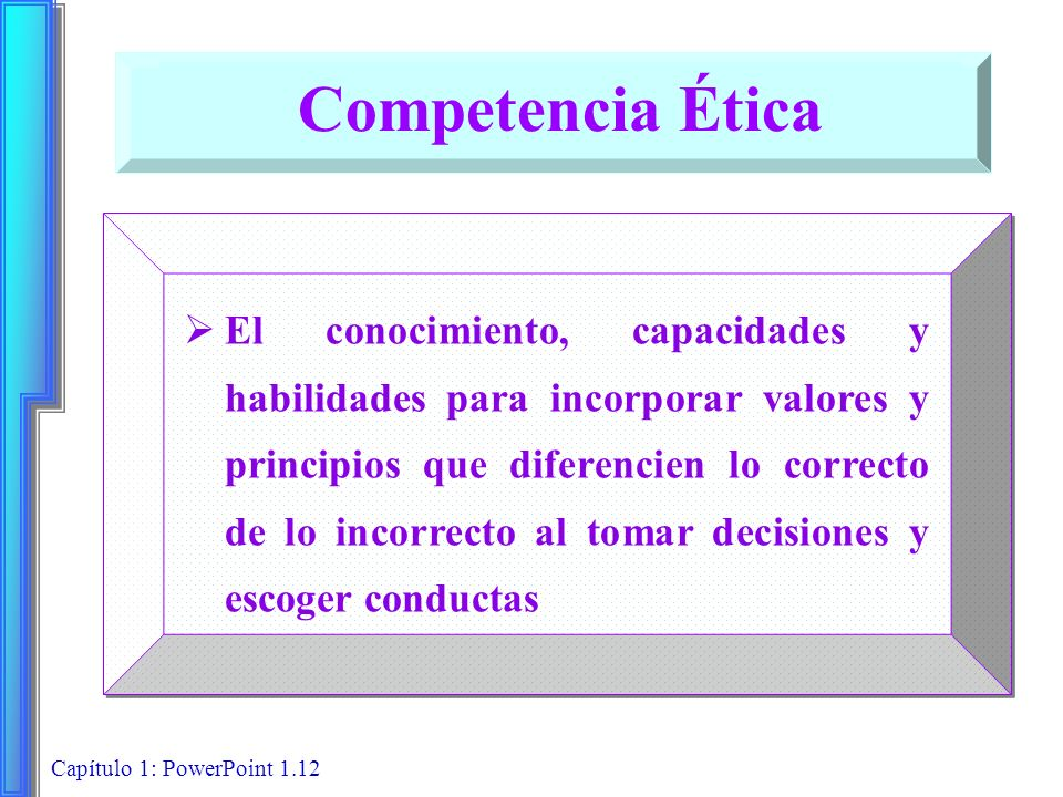 Competencia Ética
