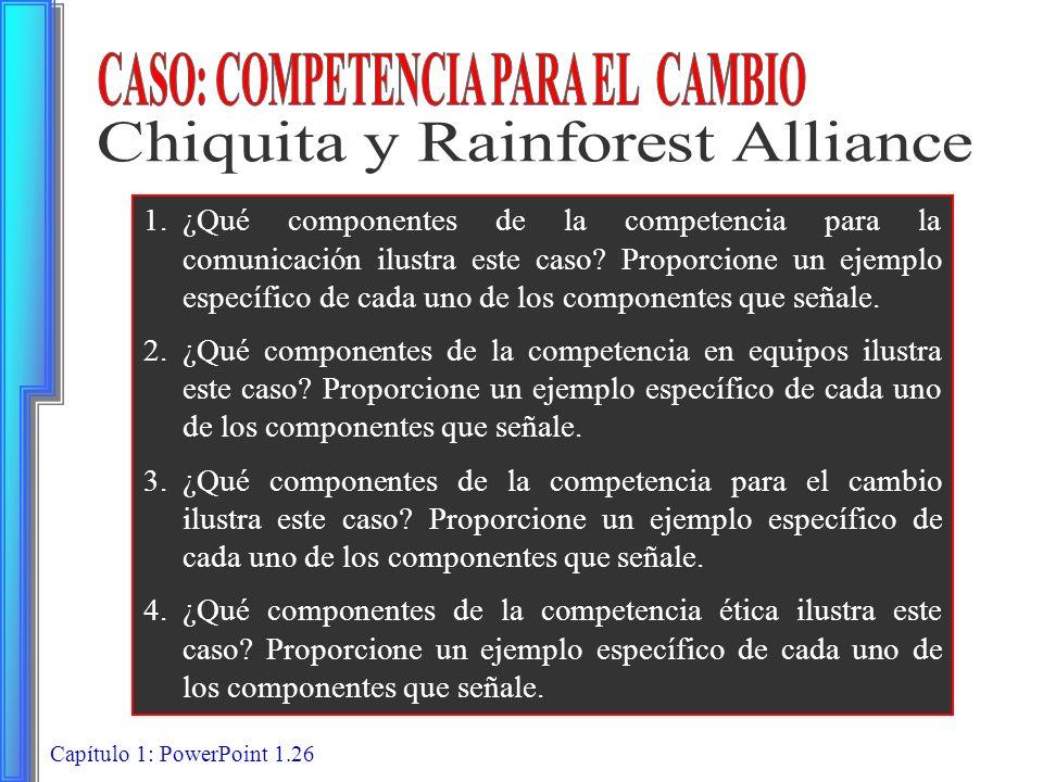 CASO: COMPETENCIA PARA EL CAMBIO