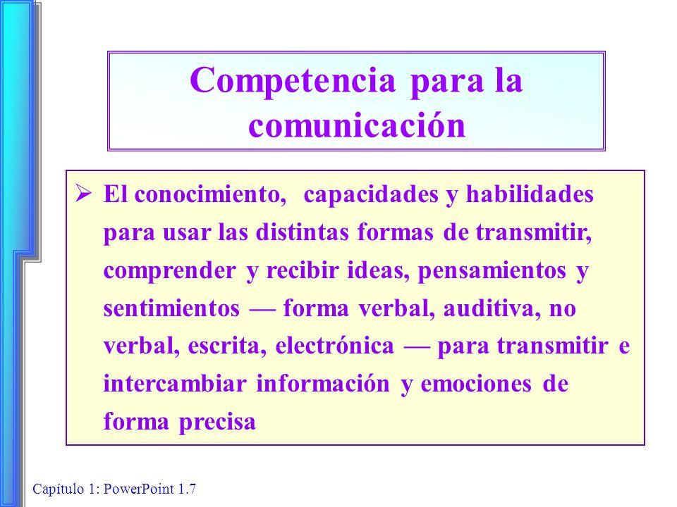 Competencia para la comunicación