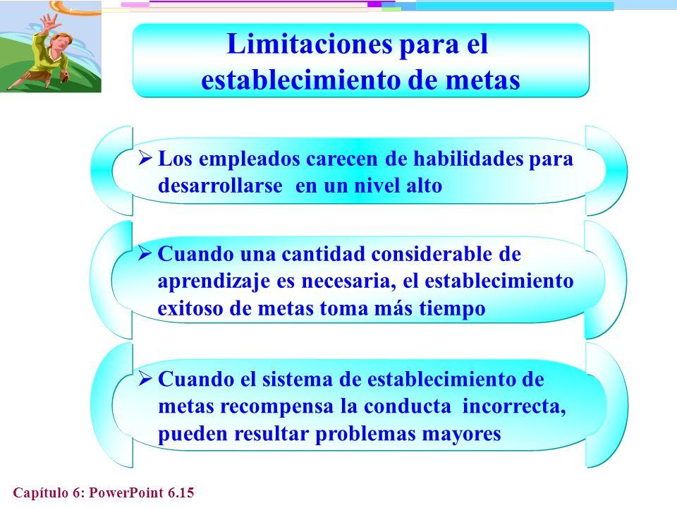 Limitaciones para el establecimiento de metas