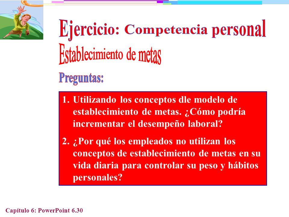 Ejercicio: Competencia personal