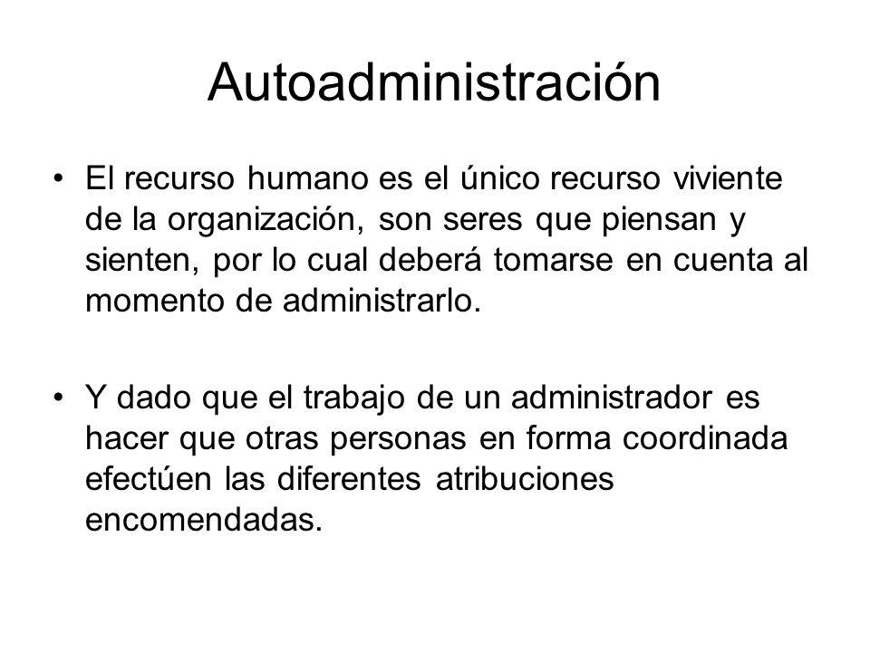 Autoadministración