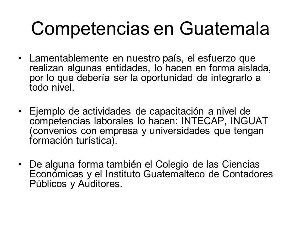 Competencias en Guatemala