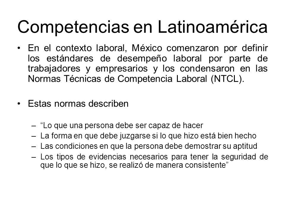 Competencias en Latinoamérica