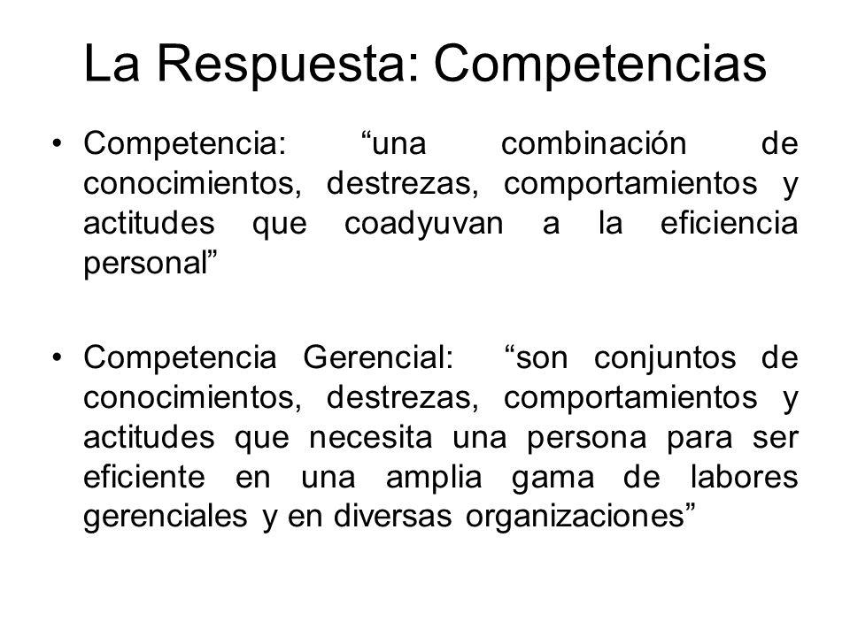 La Respuesta: Competencias