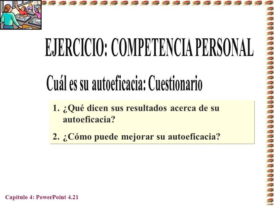 EJERCICIO: COMPETENCIA PERSONAL Cuál es su autoeficacia: Cuestionario