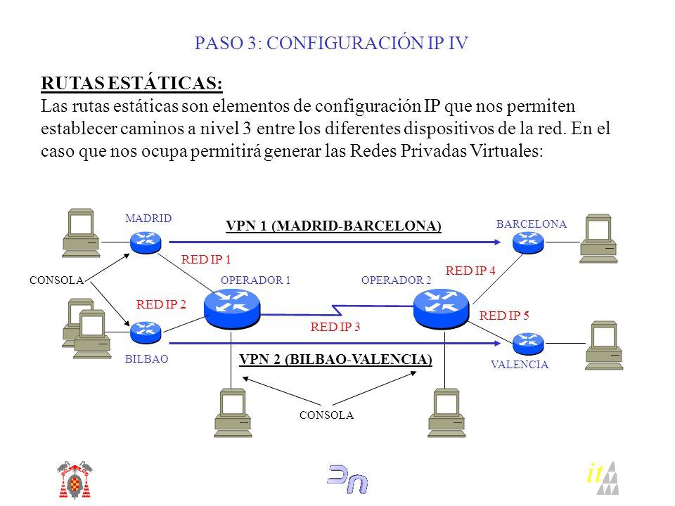 PASO 3: CONFIGURACIÓN IP IV