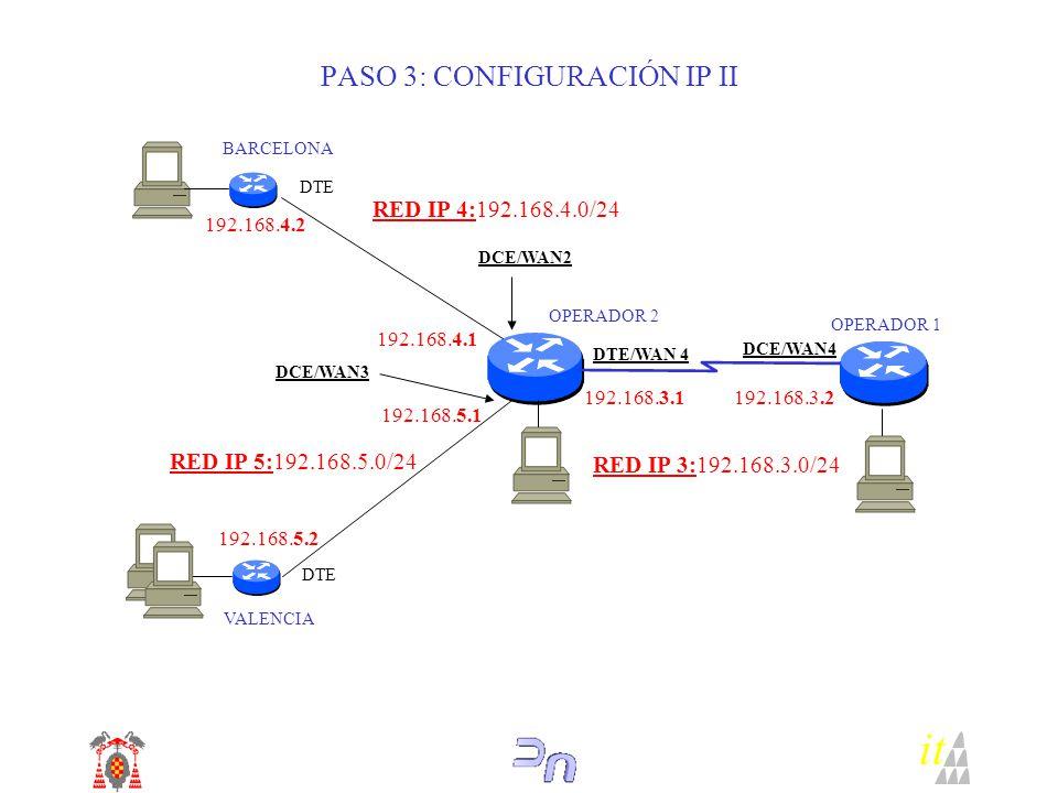PASO 3: CONFIGURACIÓN IP II
